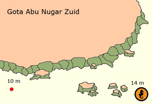 Duiken in Hurghada, Duikkaarten Hurghada, Duikkaart Hurghada, Duikplekken Hurghada, Duikplaatsen in hurghada, Duiklocaties in hurghada, Gota Abu Nugar Zuid, Hurghada