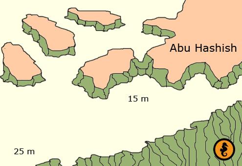 Duiken in Hurghada, Duikkaarten Hurghada, Duikkaart Hurghada, Duikplekken Hurghada, Duikplaatsen Hurghada, Duiklocaties Hurghada, Abu Hashish