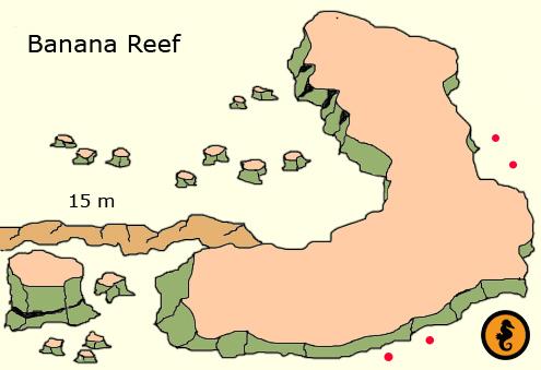 Duiken in Hurghada, Duikkaarten Hurghada, Duikkaart Hurghada, Duikplekken Hurghada, Duikplaatsen Hurghada, Duiklocaties Hurghada, Banana Reef