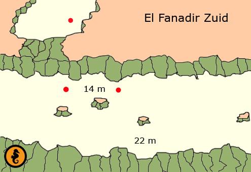 Duiken in Hurghada, Duikkaarten Hurghada, Duikkaart Hurghada, Duikplekken Hurghada,Duikplaatsen, Duiklocaties, El Fanadir Zuid