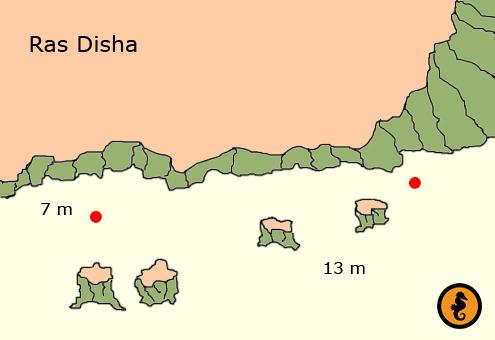 Duiken in Hurghada, Duikkaarten Hurghada, Duikkaart Hurghada, Duikplekken Hurghada, Duikplaatsen in hurghada, Duiklocaties in hurghada, Ras Disha