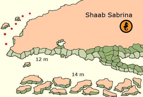 Salem Express. Wrakken, Rode Zee, Egypte, Wrakduiken en Duiken in Hurghada, Rode Zee, Egypte. Duikkaart Shaab Sabrina, Hurghada