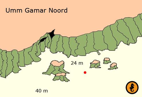 Umm Gammar Hurghada. Omschrijving en duikkaart van de duikplek Umm Gammar in Hurghada, Rode zee, Egypte. Duiken op Umm Gammar in Hurghada doe je met Seahorse Divers!