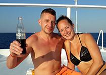 Duiken in Hurghada, Rode Zee, Egypte. Seahorse Divers, Nederlandse PADI duikschool. Duiken in Hurghada, Aaron en Ingrid