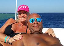Snorkelen in Hurghada, Rode Zee, Egypte. Seahorse Divers, Nederlandse PADI duikschool. Snorkelen in Hurghada, Barbara en Lambert