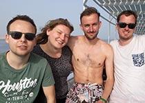 Duiken in Hurghada, Rode Zee, Egypte. Seahorse Divers, Nederlandse PADI duikschool. PADI Open Water Diver cursus in Hurghada, Tim, Kayleigh, Bryan en Michael