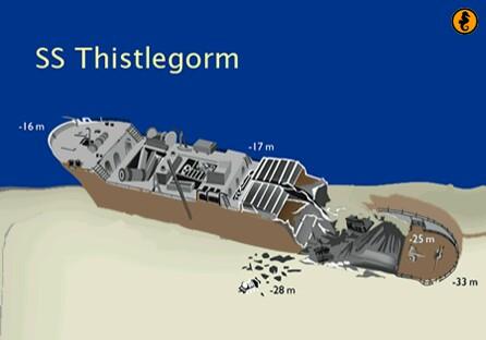 Thistlegorm Egypte, Wrakken en Wrakduiken in Egypte, wrak Thistlegorm, Rode Zee, Egypte